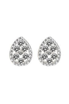 ZUNCLE Luxury Crystal Diamond Earrings (Silver)