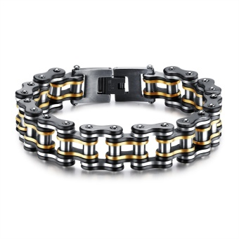 ZUNCLE Men Punk Bracelets Jewelry Biker Bicycle Motorcycle ChainMix White Bangles - intl