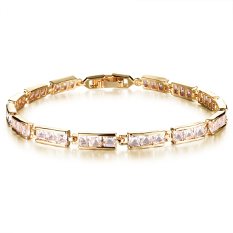 ZUNCLE Swiss Diamond 18K gold bracelet bride valentines(White) Price Philippines