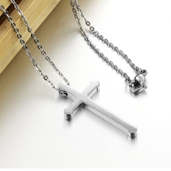 ZUNCLE Women's classic fashion jewelry cross necklace(Silver) - picture 2