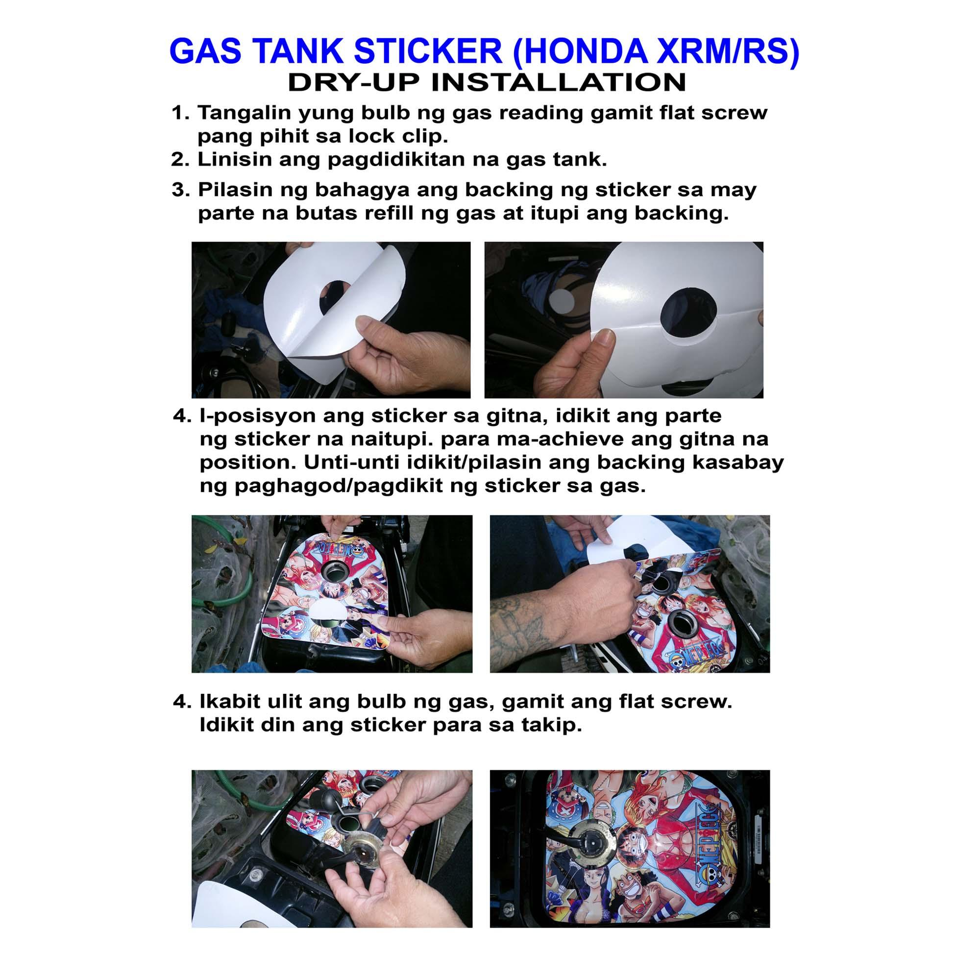 We used high quality high adhesive gas resistant vinyl stickers