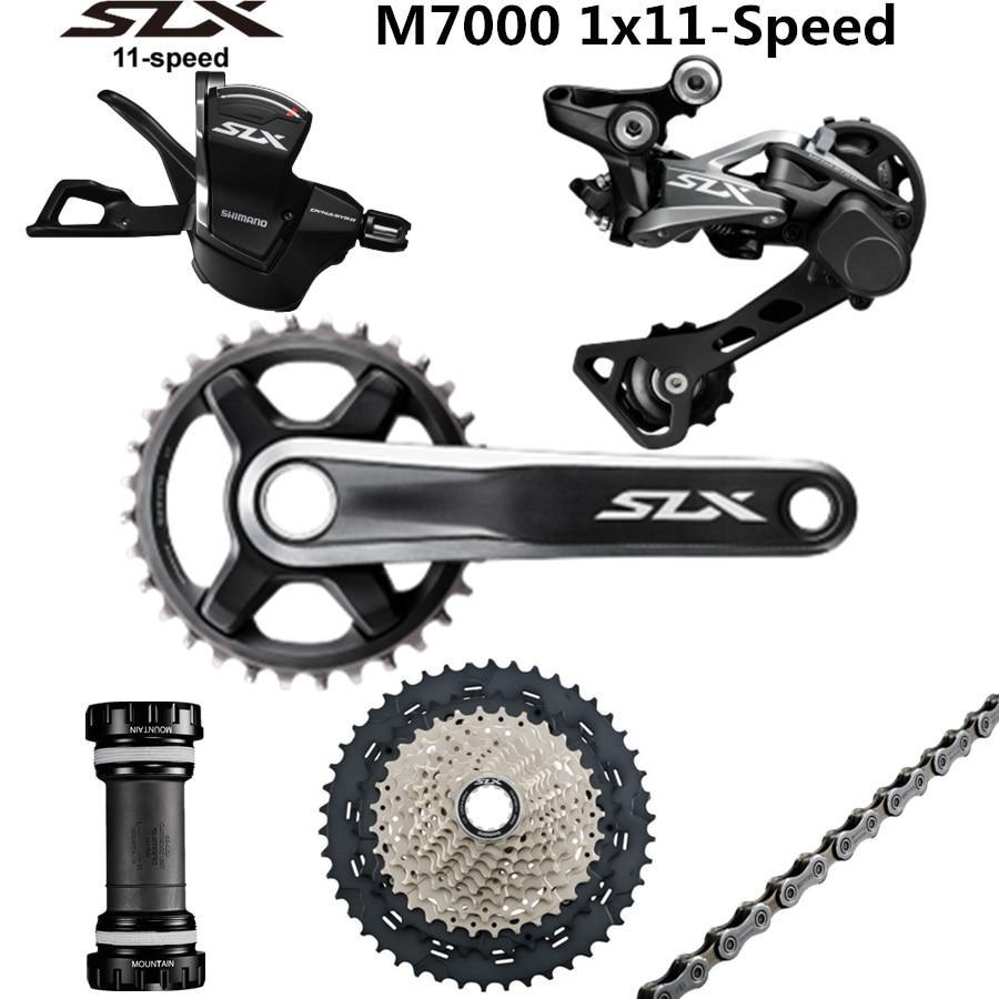 SHIMANO DEORE SLX M7000 Groupset 34T Crankset Mountain Bike Groupset  1x11-Speed 40T 42T 46T M7000 Rear Derailleur Shift Lever