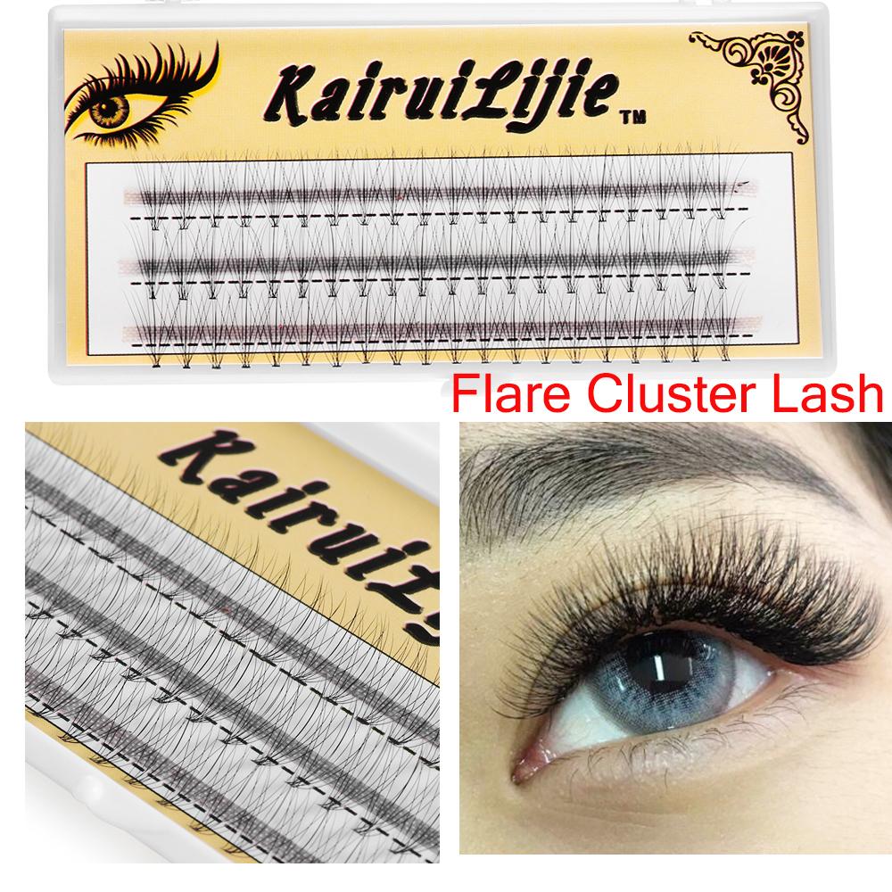 【humans Fashion】SKONHED 60 ยืนต่อขนตาส่วนบุคคล Flare Cluster Eyelashes 10D 20D Soft Natural Long Eyelashes Handmade 0.05 C