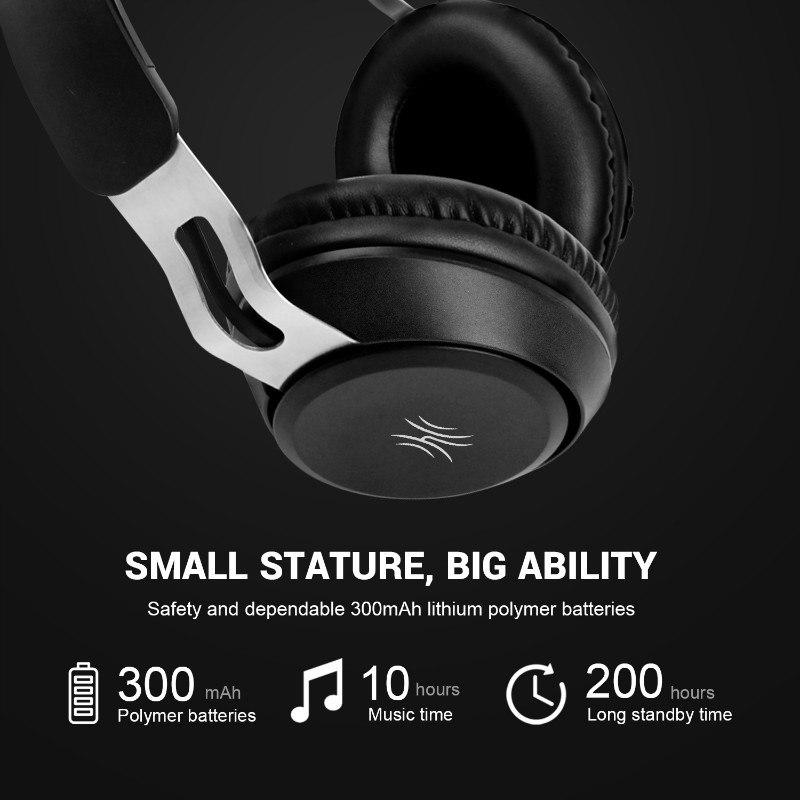 OneAudio Stereo Bluetooth 5.0 Headphone Portable Wireless Handsfree Music Headset With Mic Over Ear Earphone For iPhone Xiaomi