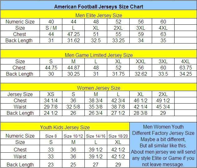 nfl jersey kid size chart