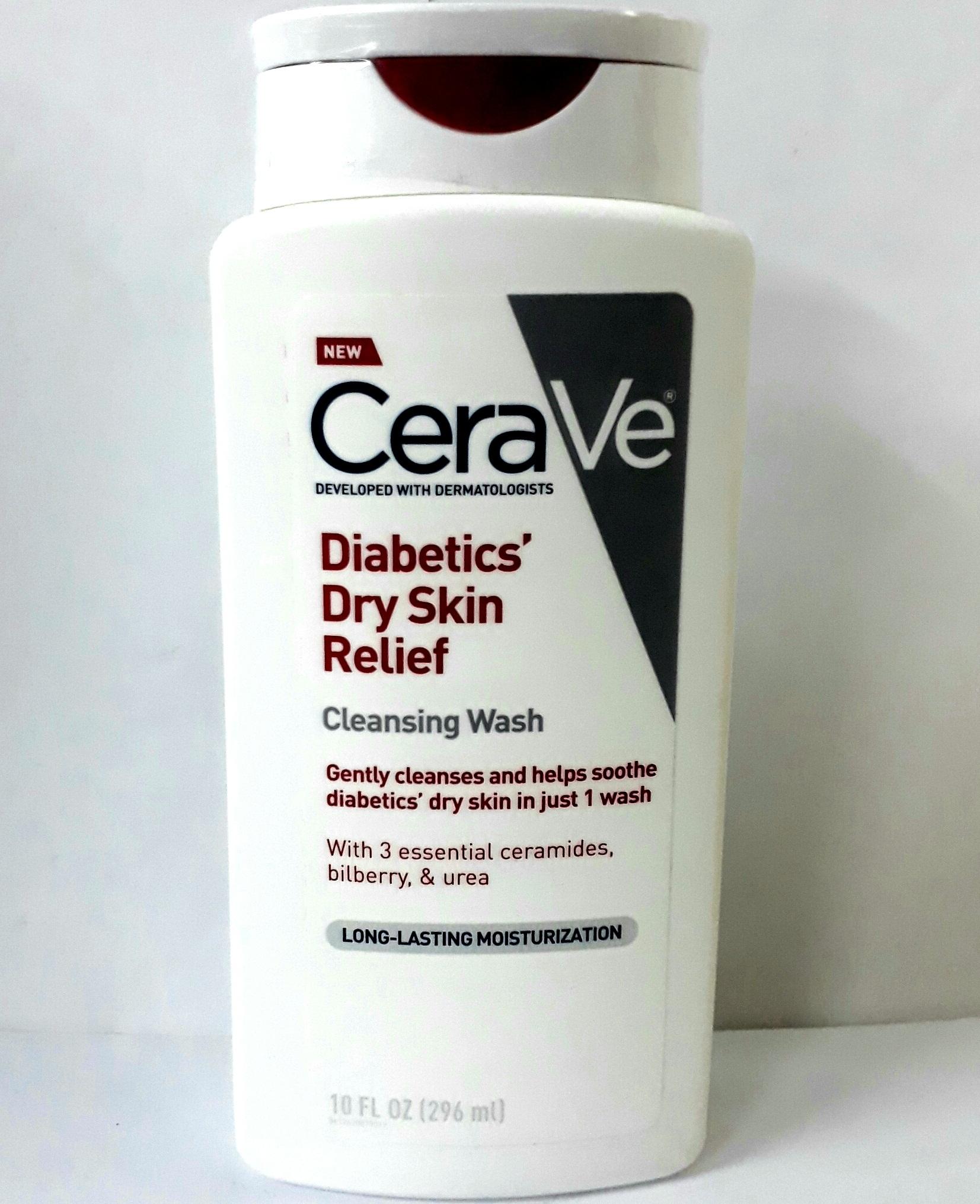 Cerave Diabetics Dry Skin Relief Cleansing Wash 10fl Oz 296 Ml