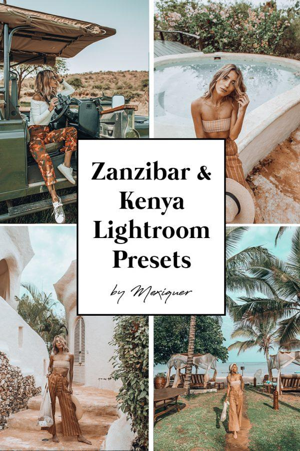 Mexiquer - Kenya & Zanzibar Premium High Quality Lightroom Presets (DESKTOP  + MOBILE)