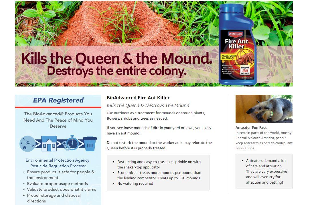 Bioadvanced 502832 Fire Ant Killer Dust 16 Ounce Lazada Ph