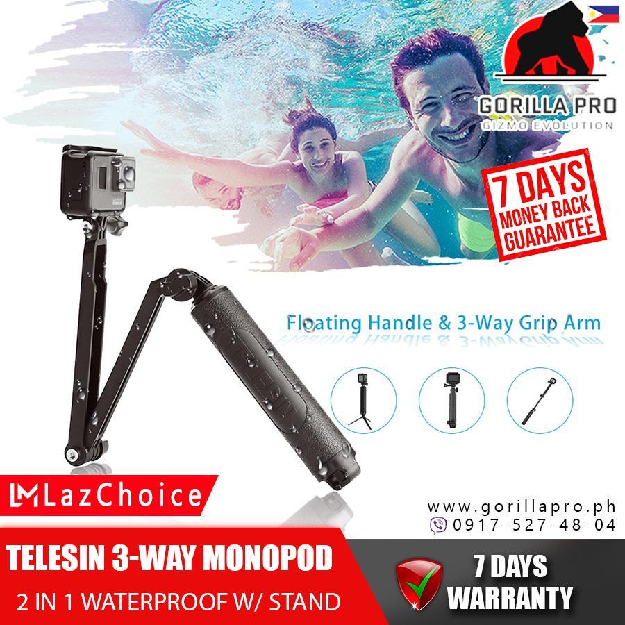 7a3b7b3d54d107 TELESIN (Selfie Stick for action Camera) Aluminum Alloy Extendable ...
