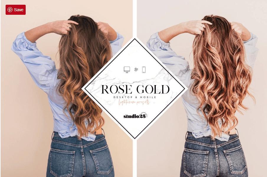 Rose gold lightroom preset (Mobile + Desktop)
