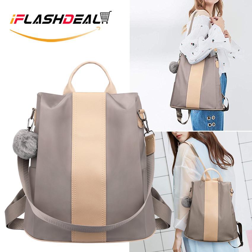 กระเป๋าสะพายพาดลำตัว นักเรียน ผู้หญิง วัยรุ่น ระยอง iFlashDeal กระเป๋าเป้สะพายหลัง กระเป๋าสะพายหลังผู้หญิง Fashion Women 3 Way Backpack Sling Bag