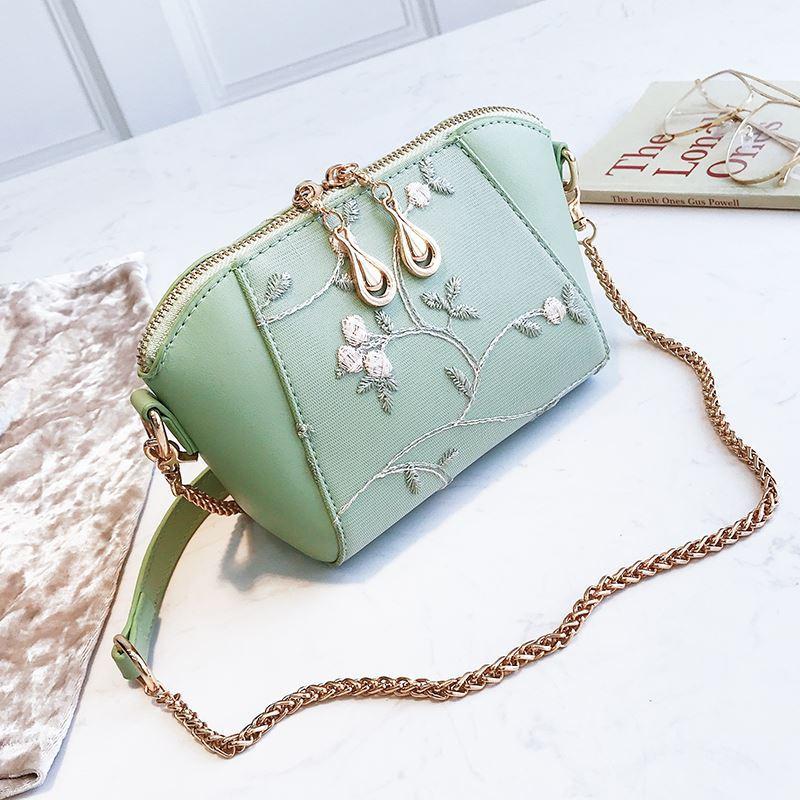Bordir Hiasan Kerang tas kecil wanita 2018 pasang modis musim panas gadis model baru rantai jahitan
