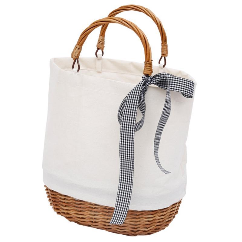 กระเป๋าสะพายพาดลำตัว นักเรียน ผู้หญิง วัยรุ่น จันทบุรี Bag Waterproof Women Rattan Clutch Handbag Summer Beach Wicker Bag For Women Leisure Ladies Tote