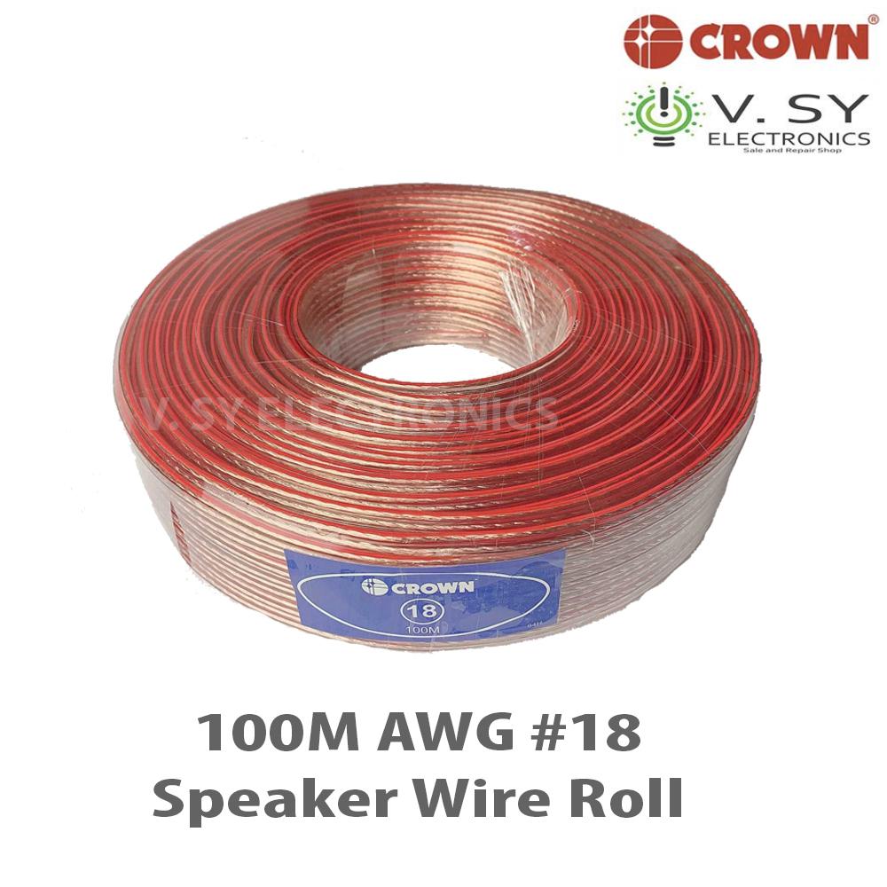 Speaker Wire Gauge >> Original Crown High End Awg 18 Speaker Wire Roll 100m 18 Awg18 Professional Speaker Wire Gauge 18