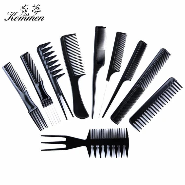 UCORP 10 Pcs Professional Styling Comb Set Salon Hairdressing Styling Tool  Hair Cutting Comb Kit Great For All Hair Types \u0026 Styles