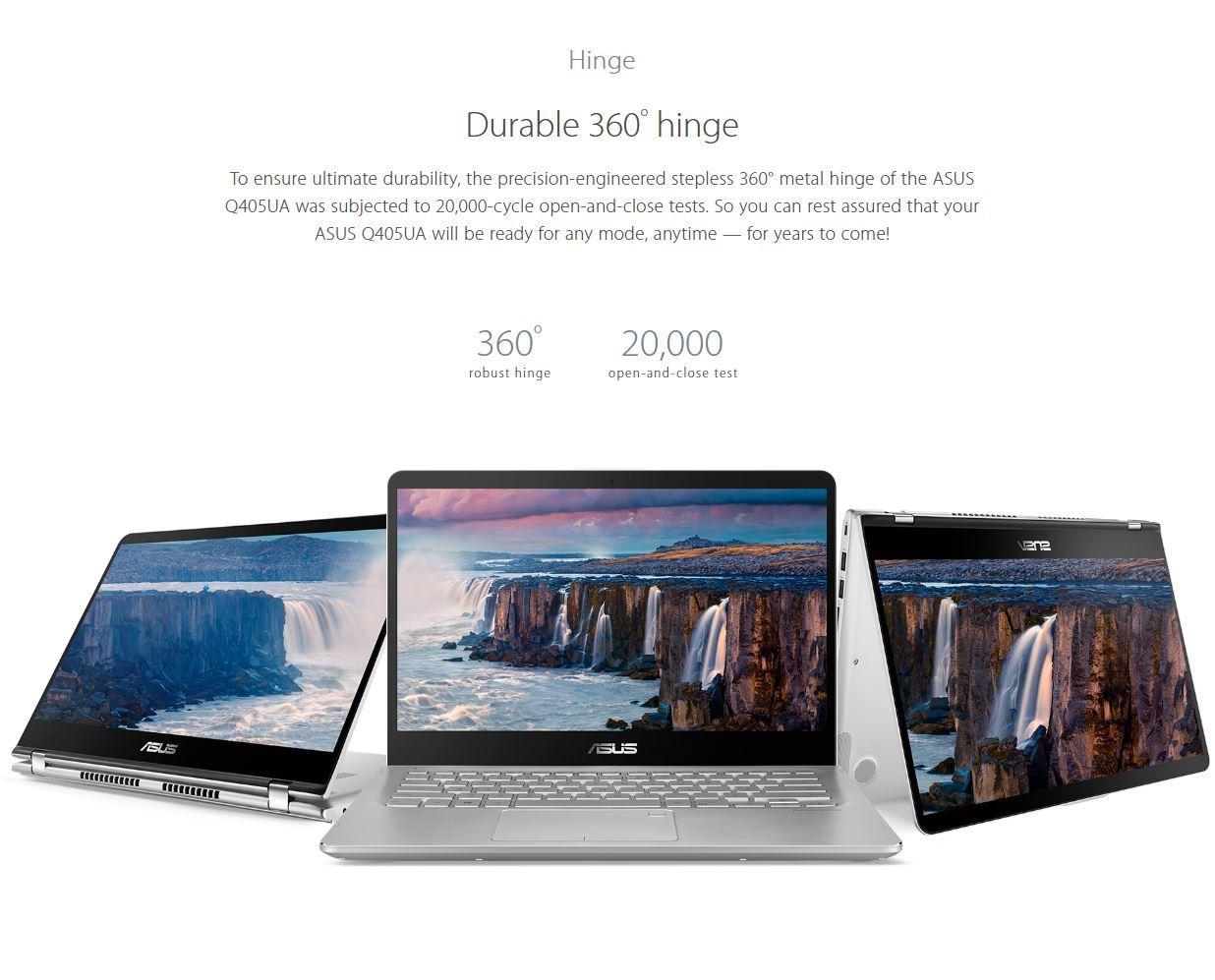 ASUS Q405UA 14 0-inch 2-in-1 Touchscreen FHD (1920x1080) Laptop PC, Intel  i5-8250U up to 3 4GHz, 8GB DDR4 SDRAM, 128GB SSD, Fingerprint Reader,