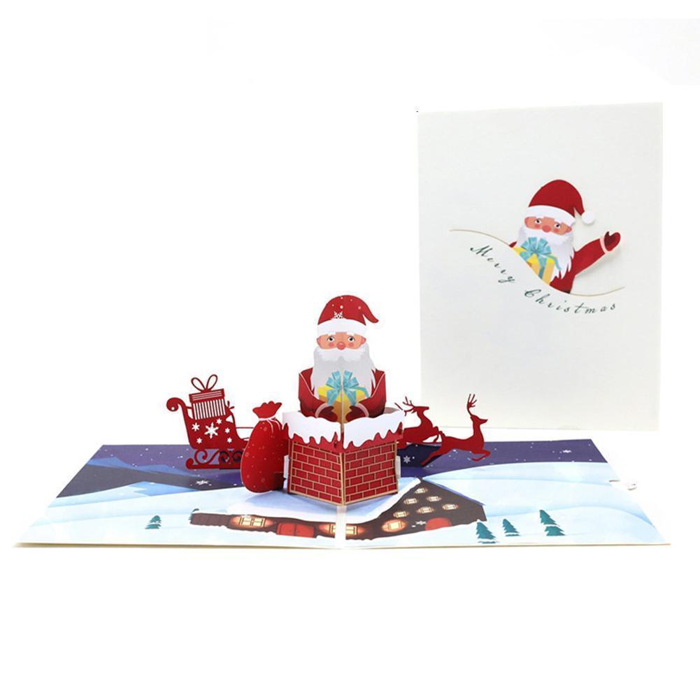 Giáng Sinh Thiệp Chúc Mừng Tự Làm Thẻ Giáng Sinh Cảnh Phúc Ngày Mừng Thẻ Thiệp Tuyết Mới Chúc Chúc Thẻ 3D Điệp Năm Thông Lễ Kinh Handmade Doanh D8E3