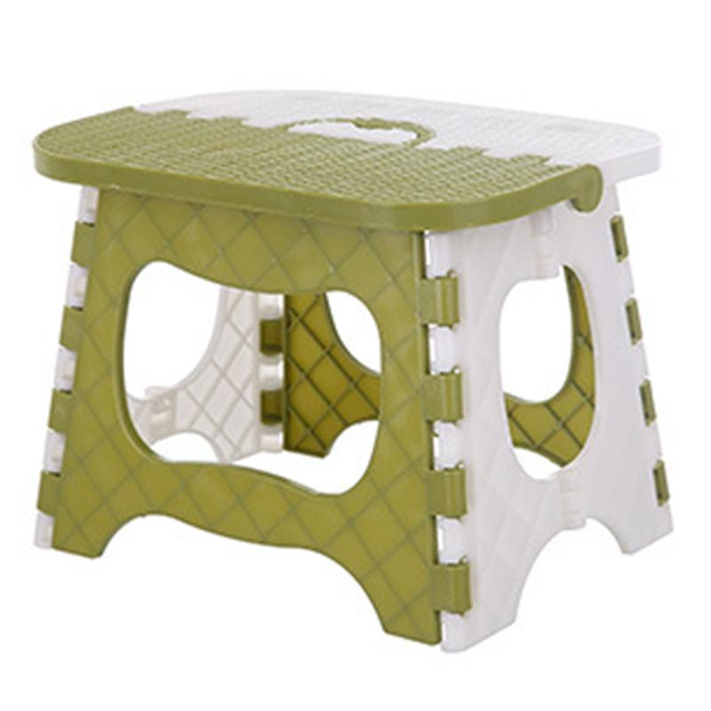 ยี่ห้อไหนดี  เชียงใหม่ Plastic Folding Stool Thickening Chair Portable Home Furniture Children Convenient Dining Stool