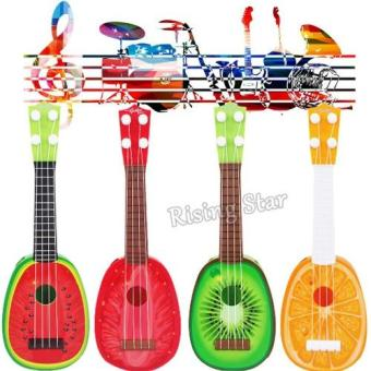 Musical Guitar Toys String Acoustic Guitar Toy 4 for Kids Mini Fruit Guitars